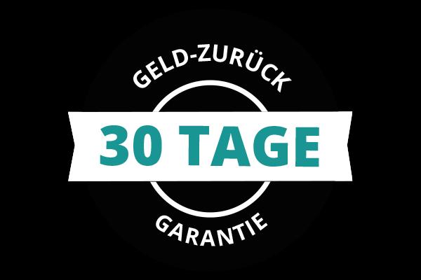 Textgrafik: 30 Tage Geld-zurück-Garantie.