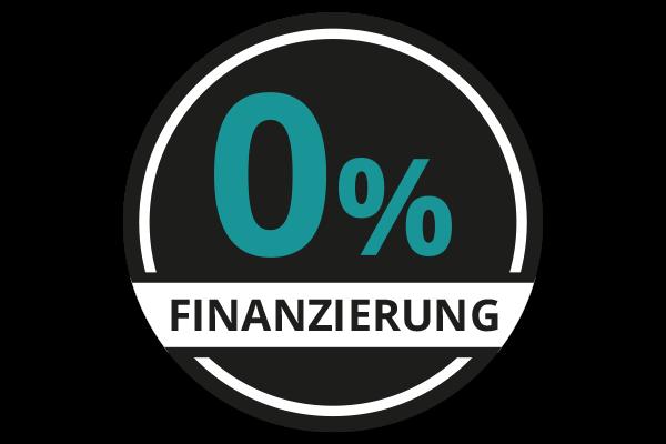 Störer mit dem Text 0% Finanzierung